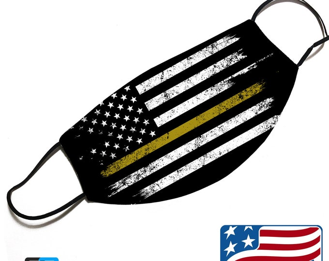 Thin GOLD line - Dispatcher Support - Face Mask Cover