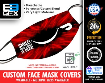 Doordash Face Mask Cover - Multiple Sizes Available - Lightweight - Breathable