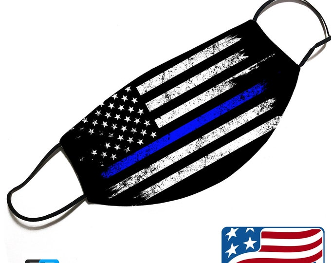 Thin Blue line - Police Support - Face Mask Cover