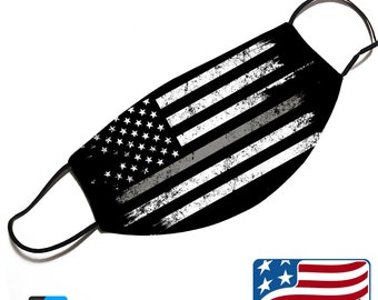 Thin Silver Grey Line - Corrections Officer Support - Face Mask Cover