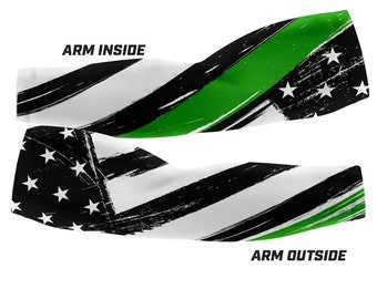 Thin Green Line - Military Support Custom Arm Sleeves (Multiple sizes available)