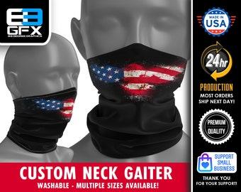 USA - EAGLE - Patriotic - Neck Gaiter - Face Cover - Multiple Sizes!