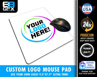 Custom Use Your Own Logo or Artwork Sublimated Mouse Pad