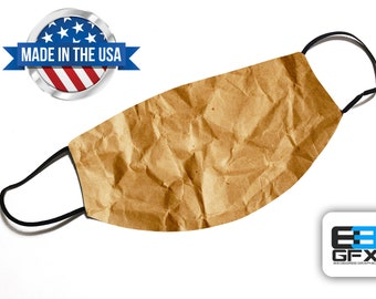 Paper Bag Design - Funny Face Mask - Face Cover