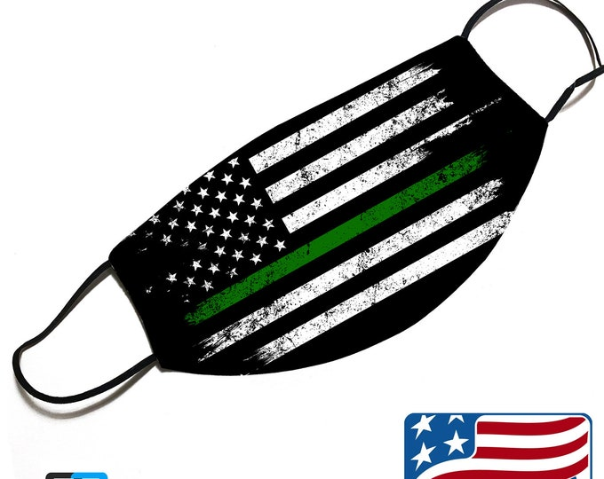 Thin GREEN line - Military Support - Face Mask Cover