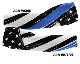 Thin Blue Line - Police Support Custom Arm Sleeves (Multiple sizes available)