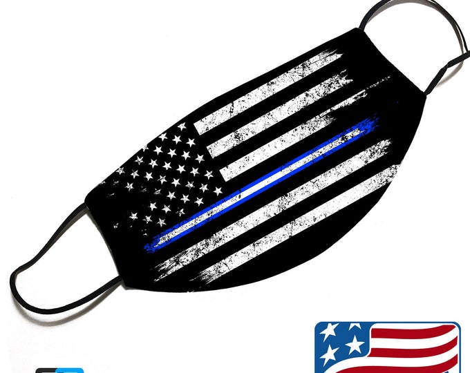 Thin White Line - EMS Support - Face Mask Cover