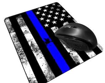 The Thin Line -  Sublimated Mouse Pad - Thin Blue Line, Thin Red Line, Thin Yellow Line, Thin Green Line, Thin Grey Line Options