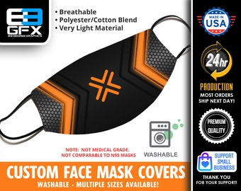 Flex Orange Face Mask Cover - Multiple Sizes Available - Lightweight - Breathable