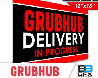 "Grubhub Delivery 12""x18"" Large Car Magnet"