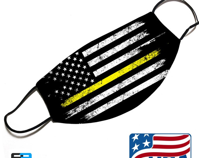 Thin Yellow Line - Security Officer Support - Face Mask Cover