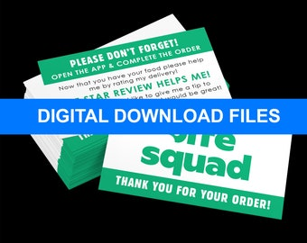 DIY - Bite Squad Delivery Review Business Cards DIGITAL DOWNLOAD!