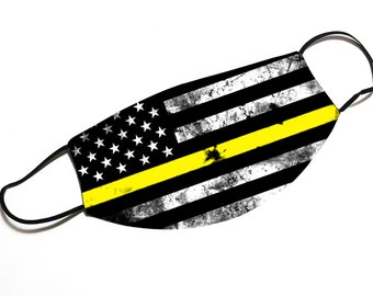 Thin Yellow Line - Dispatcher - Face Mask - Face Cover