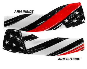 Thin Red Line - Firefighter Support Custom Arm Sleeves (Multiple sizes available)