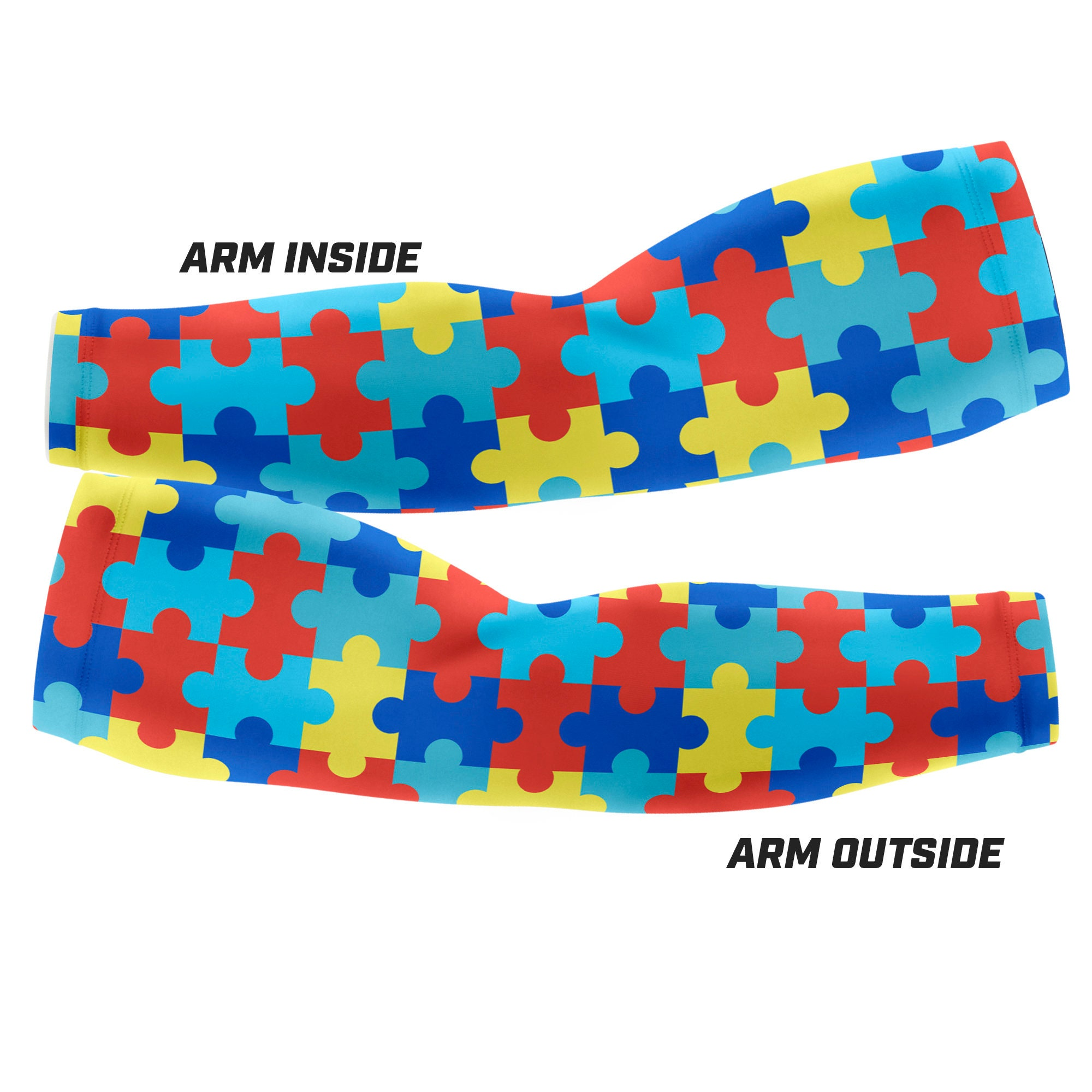 Custom Arm Sleeve Multiple sizes available Autism Awareness PUZZLE