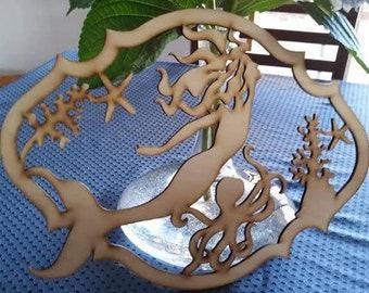 Mermaid Wood Scroll