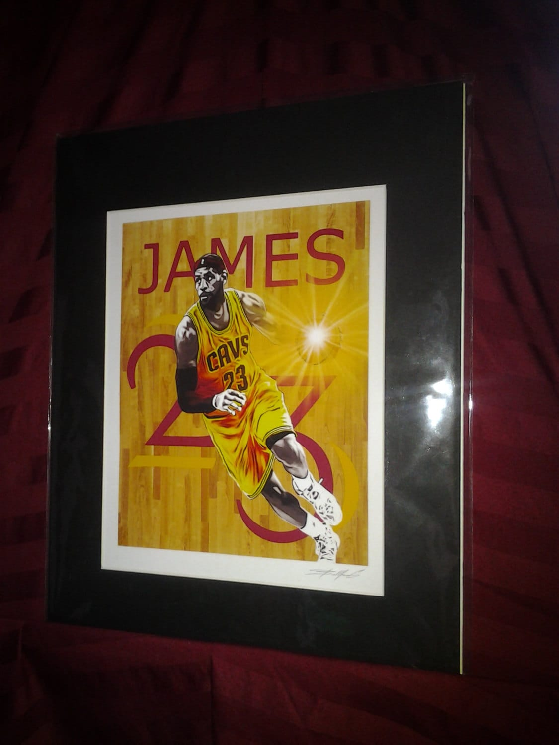 Cleveland Cavaliers LeBron James 23 Matted Wall | Etsy