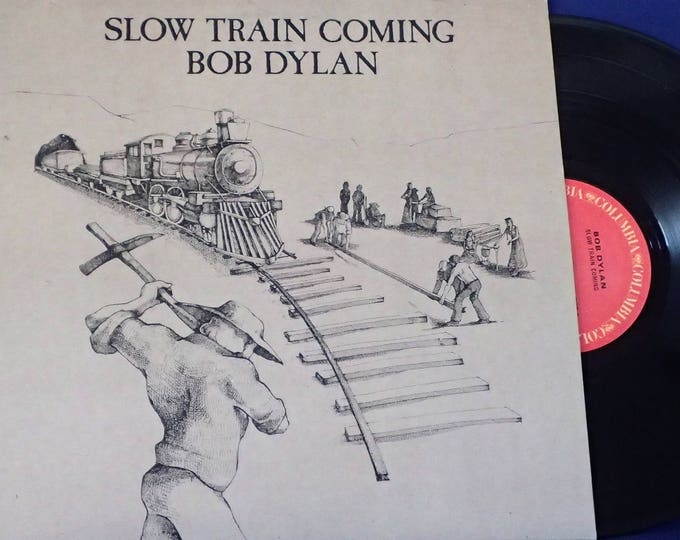 Featured listing image: Bob Dylan, Slow Train Coming - Vintage Vinyl Record