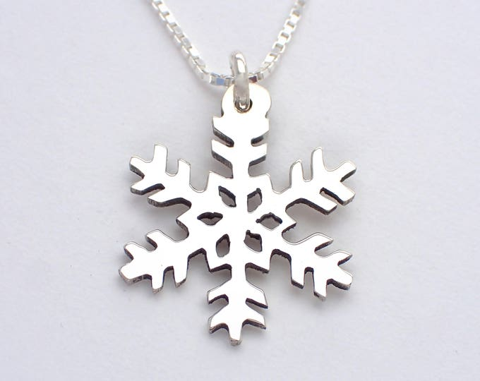 Featured listing image: Snowflake Necklace, (style-1) Hand-carved Silver Dime or Quarter