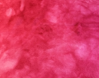 Hand Dyed Wool Pale Rose Red for Applique Quilting or Rughooking