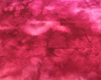 Hand Dyed Wool Cranberry Red for Applique Quilting or Rughooking