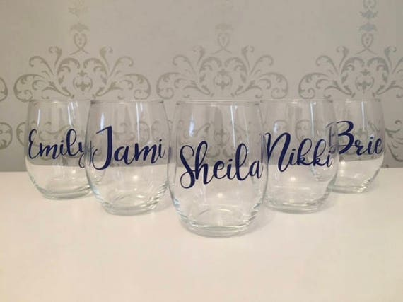 Custom Wine Glass Custom Name Glasses Custom Name Wine Etsy