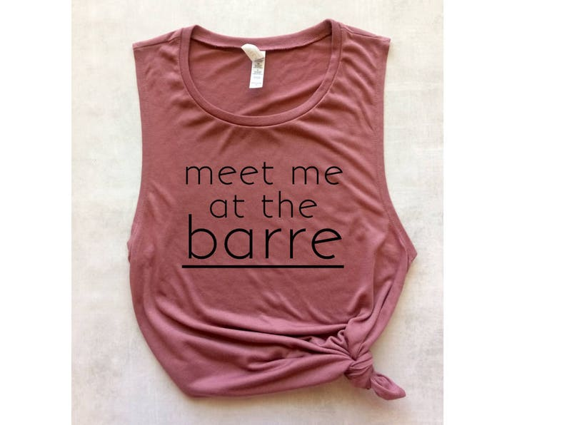 89335949 Meet me at the barre pink muscle tank barre tank top | Etsy
