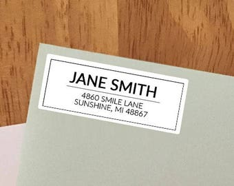 Simple Personalized Return Address Labels