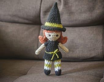 Witch Amigurumi (orange hair)