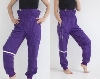 1f35179e9e8 80s Ski Suit Retro Snow Suit Purple Ski Overalls Womens Medium Ski Pants  Mens Small Snowboard Outfit Snow Trousers 90s Tall Ski Suit S M