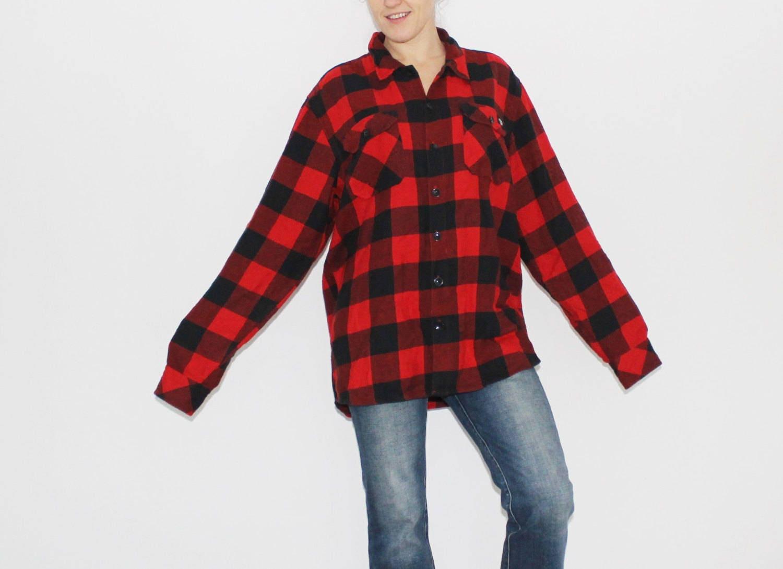 75da901fb2b0b Mens tartan shirt Red flannel check plaid lumberjack button