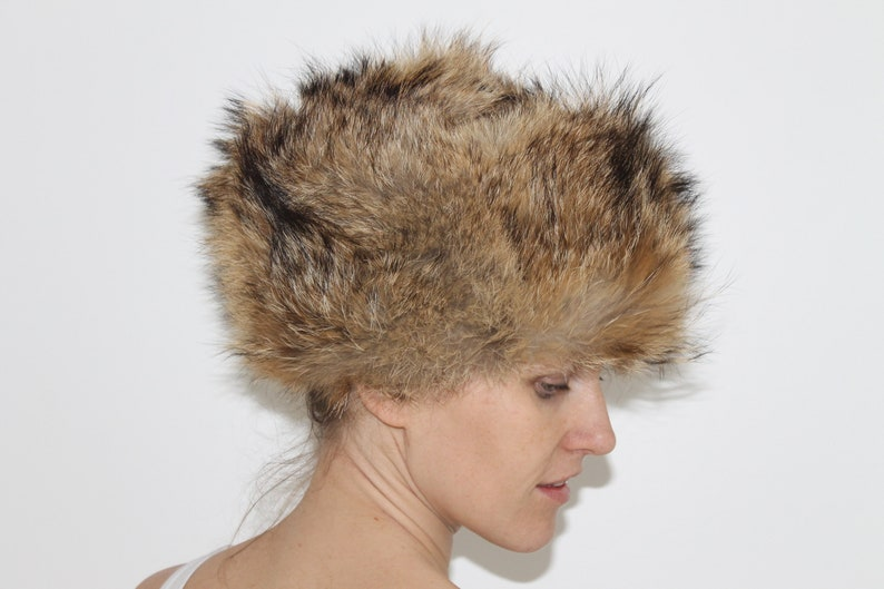b8698e3c66d Soviet Vintage 70s Rabbit Fur Winter Hat Ushanka Ear Flaps