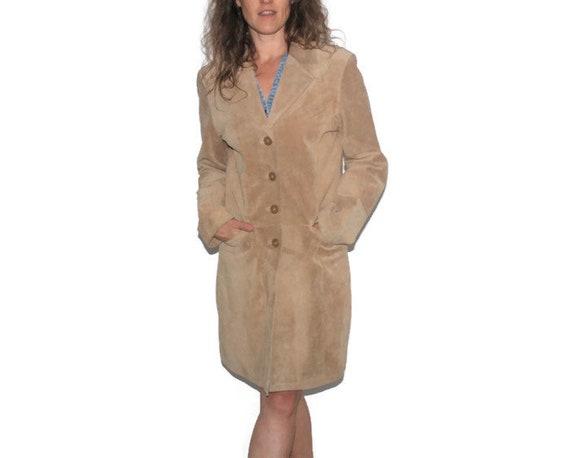 Mantel Wildleder Aztec Wildleder Medium lang Größe Medium Licht südwestlichen Blazer Jacke Western Jacke braun Oberbekleidung Blazer lange Leder shCrdxtQBo