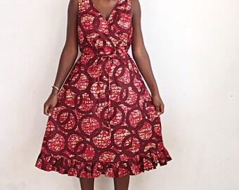 Vêtements africain Wax Wrap robe africaine imprimé Ankara tissu Wrap robe  robe africaine africaine Boutique africaine mode africaine dames Wrap
