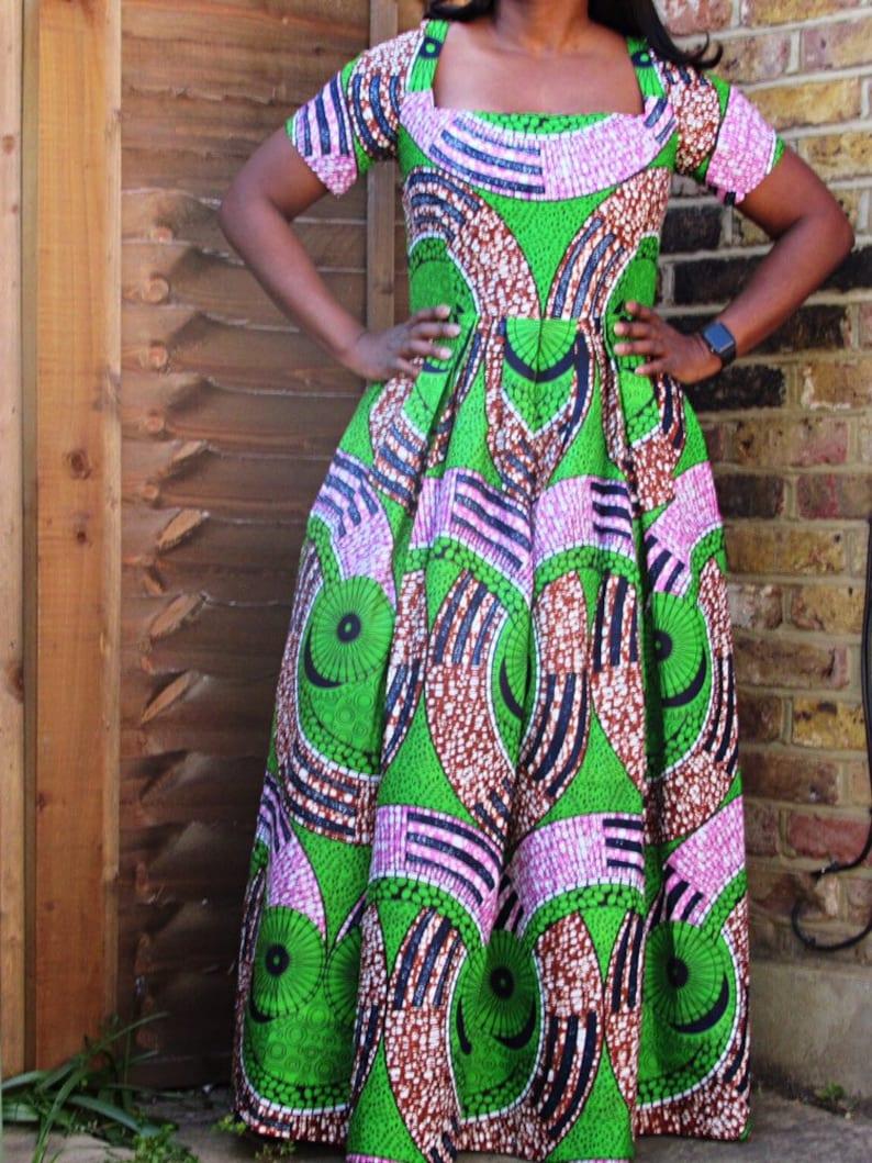 African fabric print maxi dress ankara maxi dress african wax long dress african fashion maxi dress