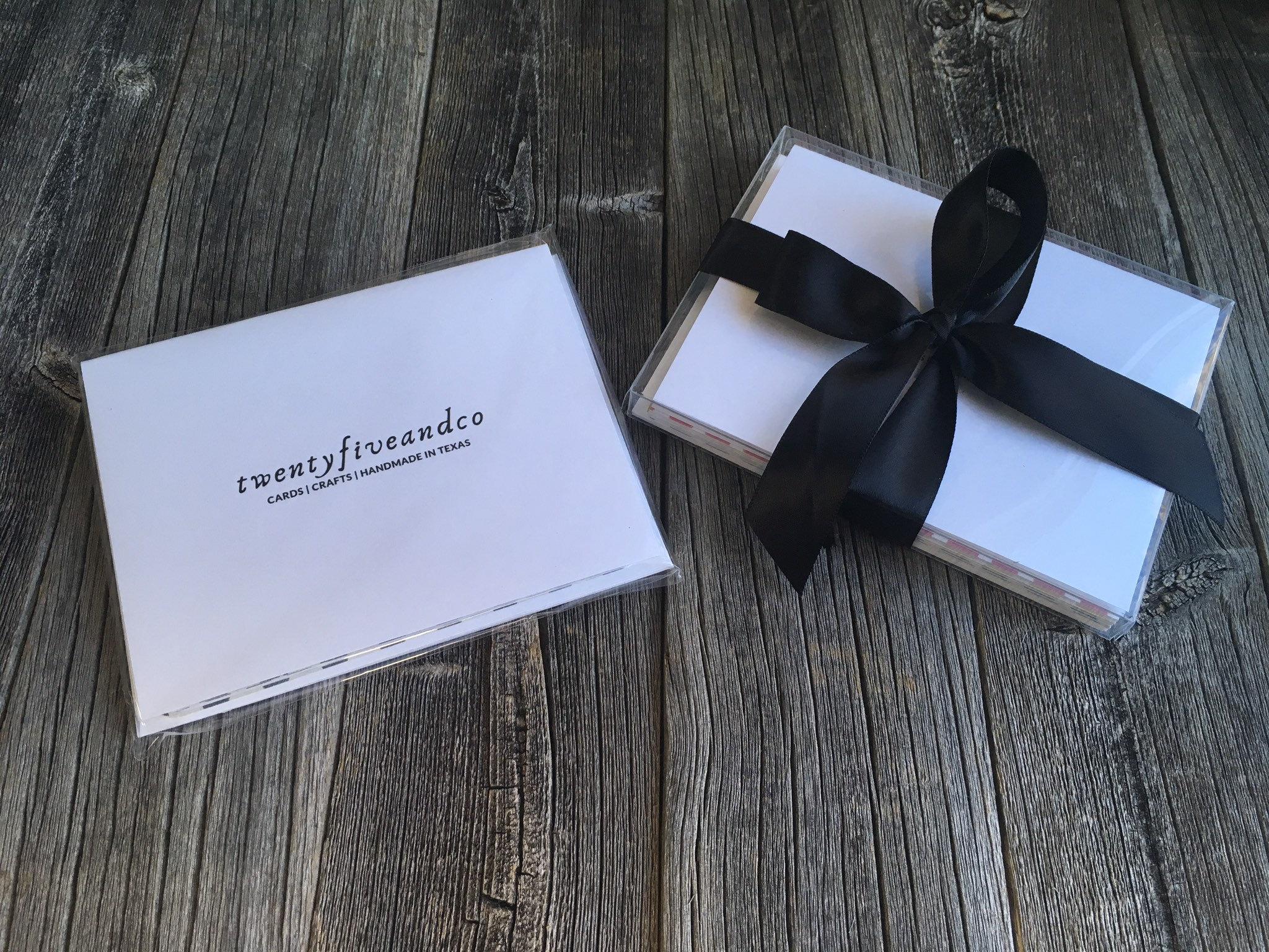 set of 5 minimalist thank you cards handmade masculine