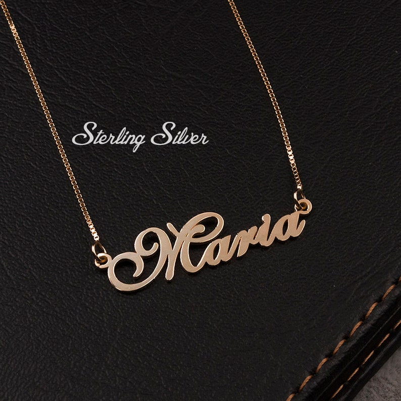 Year Necklace Gold Name Necklace Personalized Custom Name Necklace Birth Year Jewellery & Watches