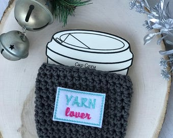 Cotton Cup Cozy//Coffee Cup Cozy//Tumbler Cover//Hot Cup Cozy//Iced Coffee Sleeve//Crochet Cozy//Handmade Cup Cozy//Yarn Lover//