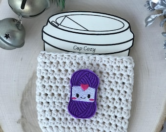 Cotton Cup Cozy//Coffee Cup Cozy//Tumbler Cover//Hot Cup Cozy//Iced Coffee Sleeve//Crochet Cozy//Handmade Cup Cozy//Yarn//Skeins of Yarn