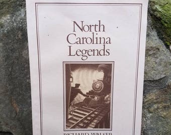 Vintage North Carolina Legends Book- 1980's Paperback- Illustrated- Folklore, Ghost Stories, Myths- Campfire/Camping- NC State Local Gift