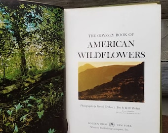 1960's Wildflower Book- Vintage Gardening Books- Large/Illustrated- Gardener's Gift/Gift for Her-Coffee Table Books-Odyssey Book of American
