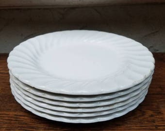 Johnson Brothers, Made in England Ironstone, white bread and butter plates. Plates/small plates/wedding/anniversary/housewarming/farmhouse