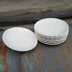 Set of 10 Johnson Bros White Dishes/Saucers/Plates/Vintage China/Made in England/Ironstone/Ceramic/Kitchen Decor/Table Setting/Meakin/Cream