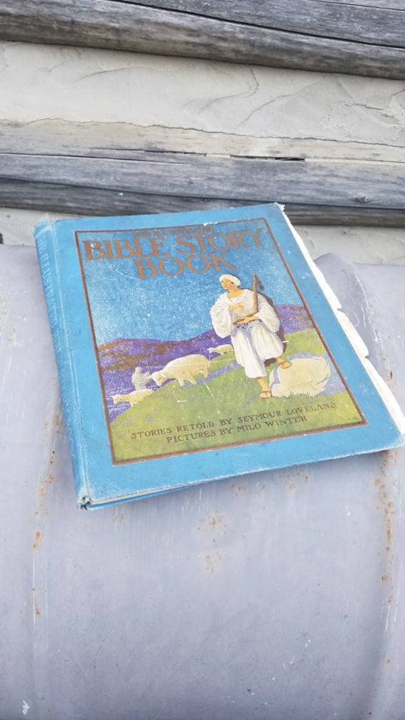 1923 Illustrated Bible Story Book Vintage 1920s Color Etsy