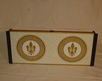 Vintage 1970s Warm-O-Tray, Warming Server, with French Fleur de Lis design.