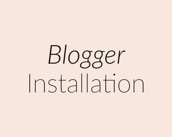 Blogger Tempate Installation