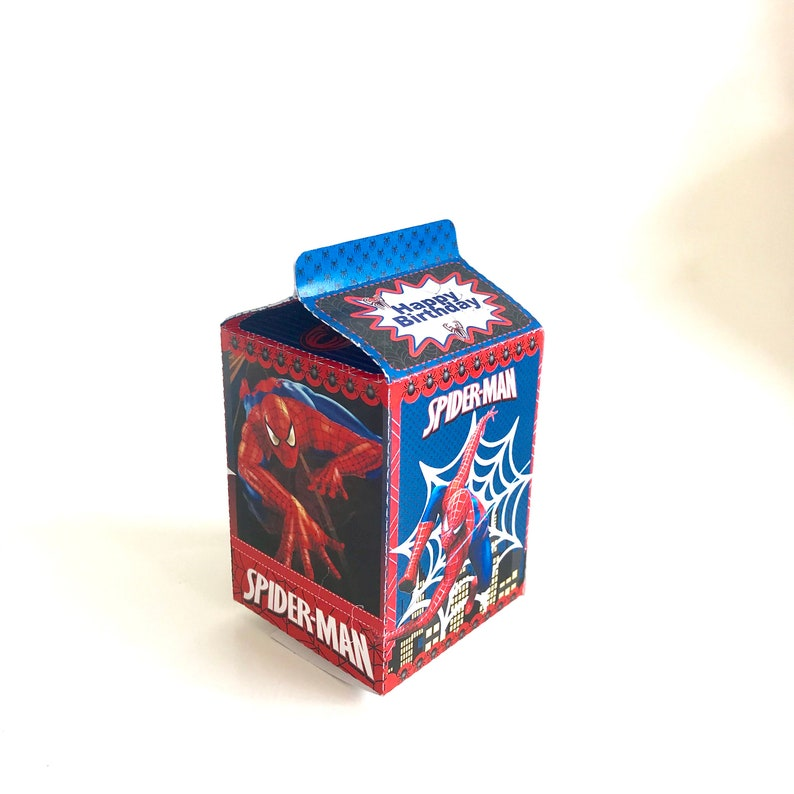 Printable Spiderman Party Favor Boxes