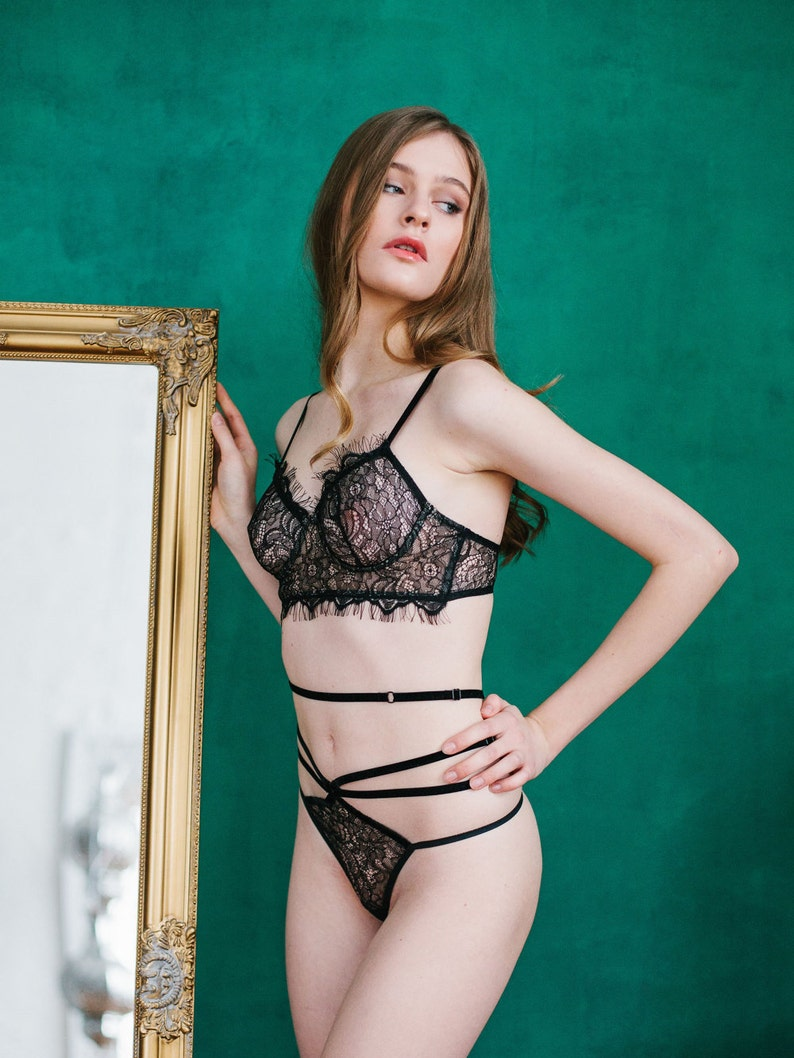 c46ce6276e529 Black Underwear Erotic lingerie Lace lingerie Sexy