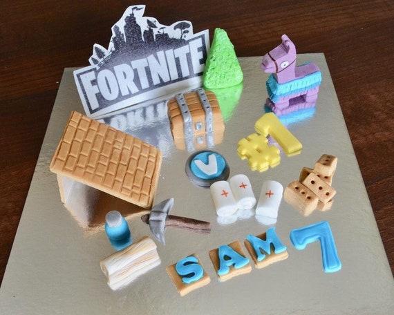 FORTNITE inspired Birthday Handmade Edible Cake Topper Cake Decoration