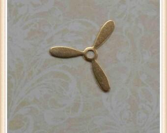 12 pcs raw brass propeller steampunk stamping finding 3abdf494aee